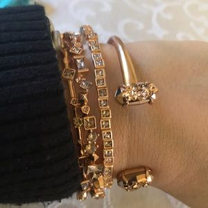 Kendra Scott Rose Gold Bangle Set